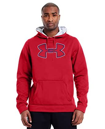 Under Armour Men's Armour® Fleece Storm Outline Big Logo Hoodie Small Red