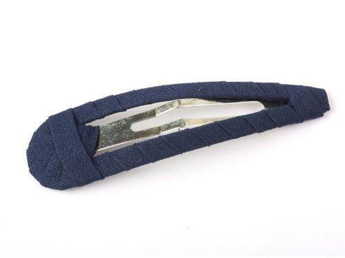 全10色 お洒落 シフォン ヘアピン 髪飾り ファッション#紺青色