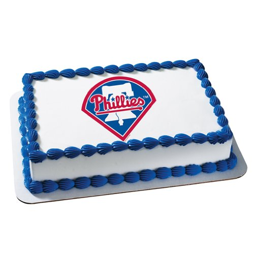 1/4 Sheet ~ MLB Philadelphia Phillies Baseball Birthday ~ Edible Image Cake/Cupcake Topper!!!
