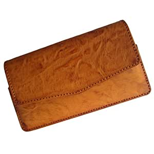 i-KitPit : PU Leather Pouch Case Cover For Nokia Lumia 635 (TAN BROWN)