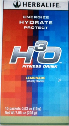 Herbalife H3O Orangeade Fitness Drink - 15 Stick Packs - Providing Rapid Hydration, Sustained Energy Plus Antioxidant Protection So You Feel Refreshed And Energized All Day Long!