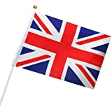 TRIXES x6 British Union Jack Flags for Royals Party Football England St George