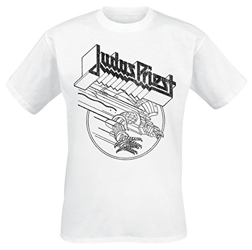 Judas Priest Screaming Eagle T-Shirt bianco XL