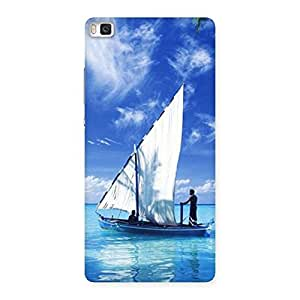 Cute Boat Guy Back Case Cover for Huawei P8