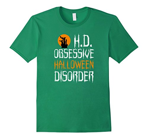 [Men's O.H.D. Obsessive Halloween Disorder Funny Costume T-Shirt 3XL Kelly Green] (Last Minute Awesome Halloween Costumes)