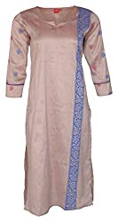 Zele Women's Straight Kurti (Z0025_Multi-Colour_X-Large)