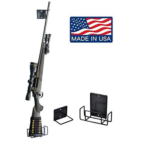 For Sale! Safety Solutions Gun Accessories Mount Anywhere Single Shotgun Rifle Vinyl Coated Metal Gu...