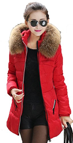 Newfacelook Womens Ladies sasti Pelliccia Parka Top Coat Jacket