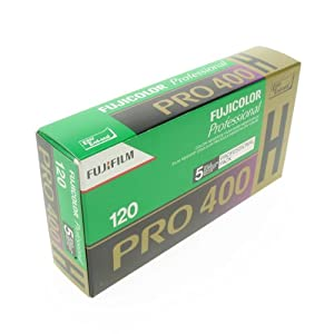 Fujifilm Fujicolor Pro 400H Color Negative Film ISO 400, 120mm, 5 Roll Pro Pack