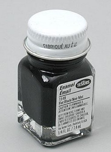 Testors Enamel Paint Open Stock .25oz-Black Flat