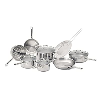 Emeril E914SC64 PRO-CLAD Tri-Ply Stainless Steel 12 or 13 Piece Cookware Set
