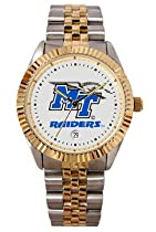 Middle Tennessee State University Blue Raiders Mens Executive Stainless Steel Watch