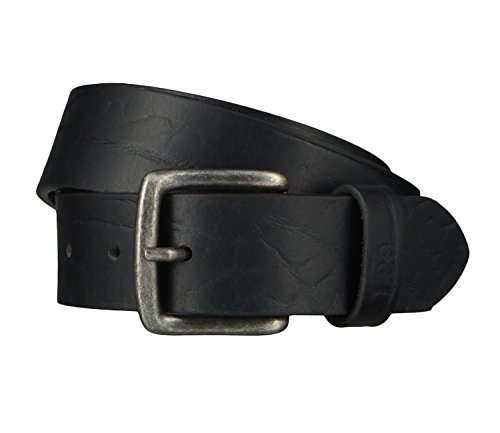 Lee Cintura di uomini Cintura di Pelle nero 4635, Länge:90 cm;Farbe:schwarz