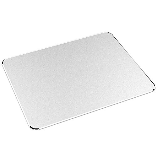 Nulaxy Aluminum Non-Slip Rubber Base and Micro Sand Blasting Gaming Mouse Pad, Silver (YC-0450) (Aluminum Mouse Pad compare prices)