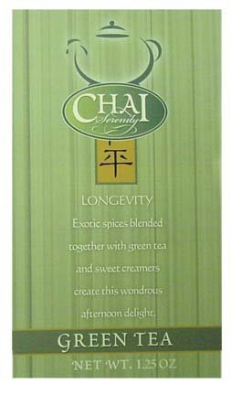 Caf? D'Amore Chai Serenity - Green Tea 1.25 oz.(Pack of 10)
