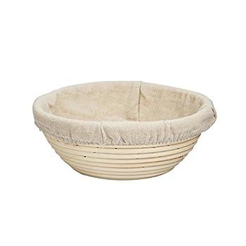 "Forsun 1pcs 8.5"" Round Banneton Brotform Bread Dough Proofing Rising Rattan Basket & Liner"