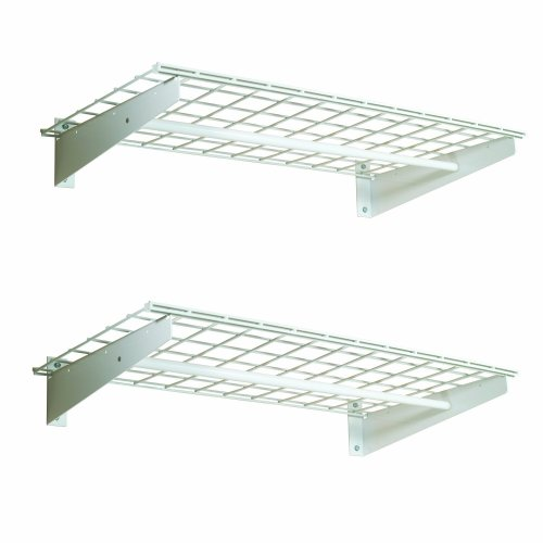 HyLoft 00777 36-by-18-Inch Wall Shelf with Hanging Rod, 2-Pack (Wire Wall Shelving compare prices)