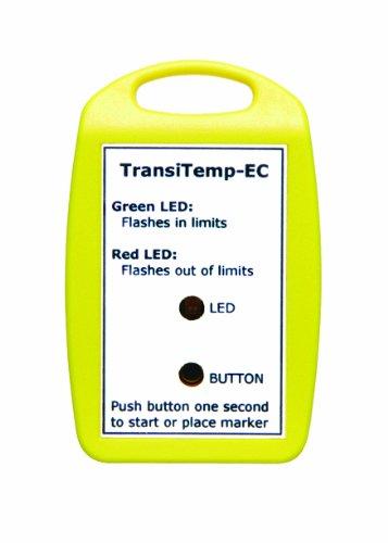 MadgeTech TransiTemp-EC-Multi Multi-Use Economical Temperature Data Logger, Push Button Start, LED Status, and Instant Alarm Indicators
