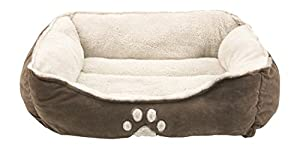 Sofantex Pet Bed - Fit Medium Sized Dog / Fat Cat, Machine Washable, Ultra Soft Pet Sofa - Dark Coffee