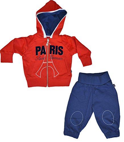 Paris Saint Germain: Tuta baby PSG, giacca con cappuccio e pantalone, collezione ufficiale Paris Saint Germain, Blu (blu), 12 mesi