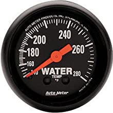 "Auto Meter 2606 Z-Series 2-1/16"" Mechanical Water Temperature Gauge"