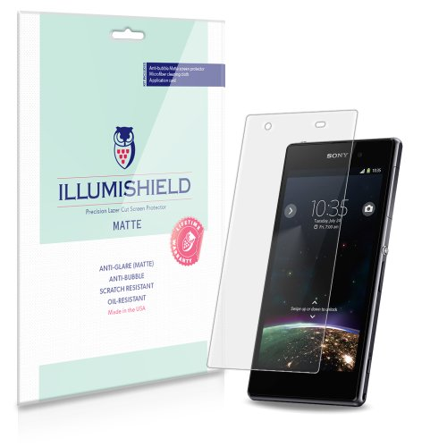 Illumishield - Sony Xperia Z1S Anti-Glare (Matte) Screen Protector Hd Clear Film / Anti-Bubble & Anti-Fingerprint / Premium Japanese High Definition Invisible Crystal Shield - Free Lifetime Warranty - [3-Pack] Retail Packaging