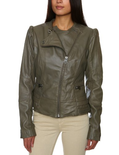 Firetrap Motocross Leather Womens Jacket Taupe Small