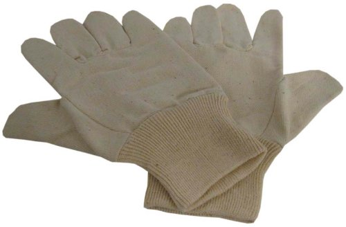 Ladies Size Medium Cotton Canvas Abidextrous Gloves With Knit Wrist : ( Pack Of 12 Pairs ) front-425394
