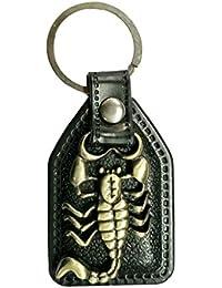 Parrk Best Scorpion Leather Locking Keychain