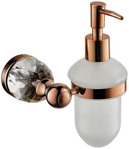 Distributeurs de savon européen rétro cuivre rose or salle de bain-YU&XIN
