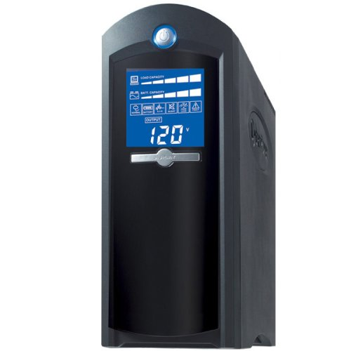Cyberpower CP1500AVRLCD UPS - LCD Display 1500VA/900W AVR 8-Outlet RJ11/RJ45/Coax Tower USB