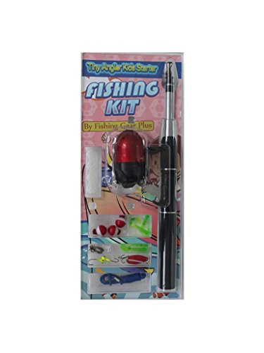 Fishing Gear Plus Kids Telescopic Fishing Pole with Float and Hooks