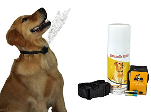 NO BARK Collar Citronella Spray Anti-Bark collar for Dogs Kit - Safe, Effective, and Humane Dog Barking Control collar