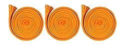 Sri Vaari Lace Orange Polyester Shoe Lace (Pack Of 3)