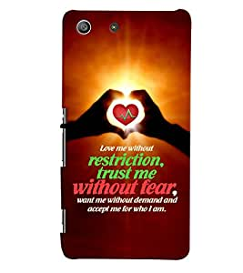 PRINTVISA Quotes Love Case Cover for Sony Xperia M5 Dual E5633 E5643 E5663:: Sony Xperia M5 E5603 E5606 E5653
