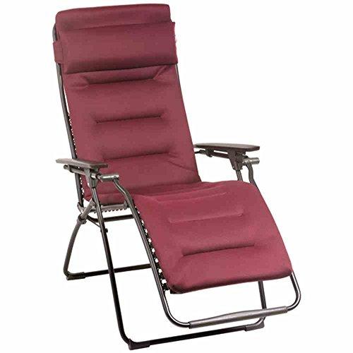 Lafuma-LFM3096-3186-gepolsteter-Relax-Liegestuhl-klappbar-und-verstellbar-Futura-Air-Comfort-XL-rot