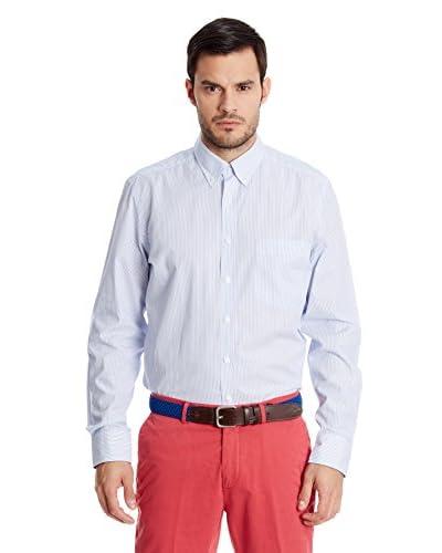 Hackett London Camicia Uomo [Bianco/Blu Chiaro]
