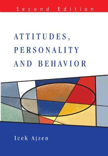 Attitudes, Personality and Behavior