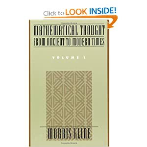 Mathematical Thought from Ancient to Modern Times, Vol. 1 Morris Kline