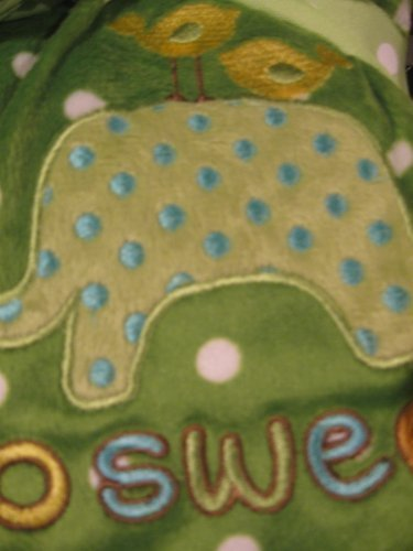 Elephant Green Soft Reversible Blanket - 1
