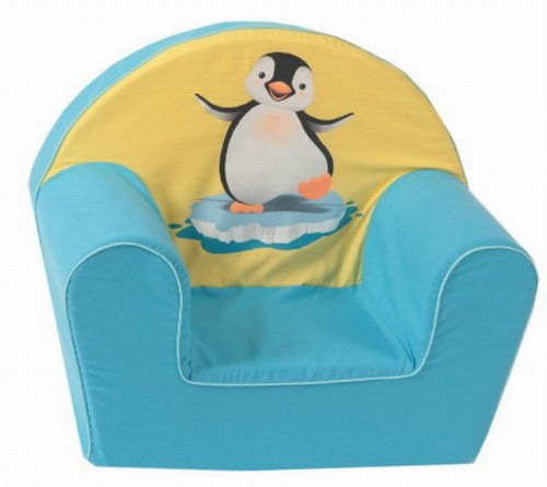 knorr-baby-490181-Kindersessel-Pinguin-gelb-blau