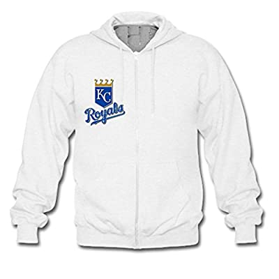 Custom Men Kansas City Royals Team Logo Hoodies Zip Up Jacket
