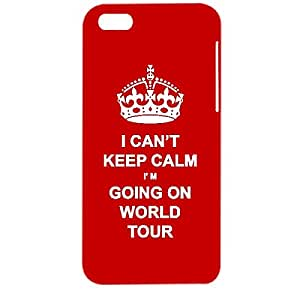 Skin4gadgets I CAN'T KEEP CALM I'm GOING ON WORLD TOUR - Colour - Red Phone Designer CASE for APPLE IPHONE 5