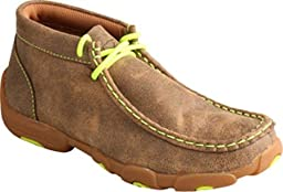 Twisted X Boys\' And Neon Yellow Leather Driving Mocs Bomber 5.5 D(M) US