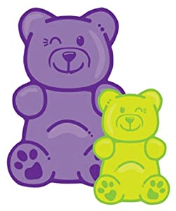 iscream / New!! Classic Candy Sweet Gummy Bear Microbead Pillow