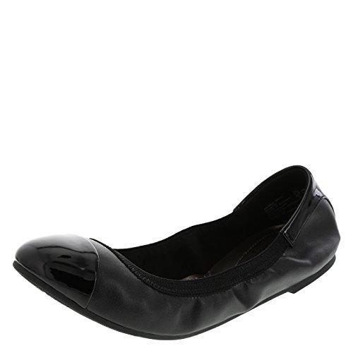 dexflex Comfort Women's Black Claire Scrunch Flat 11 Wide
