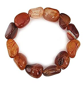 CARNELIAN - Tumbled Nugget Stretch Bracelet