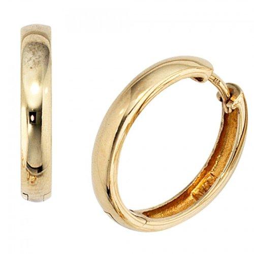 Creolen 333/-G goldene Klappcreolen Klappkreolen gold 333 Ohrringe gold 333