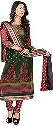 Vivacity Women's Cotton Unstitched Dress Material (GB-08_Multi_Free Size)