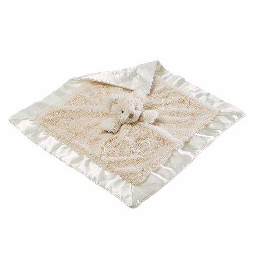 Gund Amandine Teddy Bear Satineehug Baby Blanket